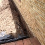 Perimeter Soil Barrier/treated zone (During)